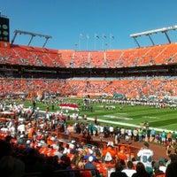 11/25/2012 tarihinde Ralph C.ziyaretçi tarafından Hard Rock Stadium'de çekilen fotoğraf