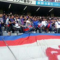 Das Foto wurde bei 味の素スタジアム ホーム側ゴール裏 von yasuzoh am 3/9/2013 aufgenommen