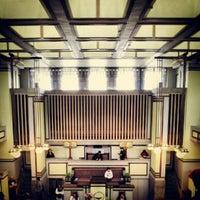 รูปภาพถ่ายที่ Frank Lloyd Wright's Unity Temple โดย Michael S. เมื่อ 9/21/2012