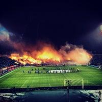 Foto tirada no(a) Стадион «Петровский» por Roman ⛵. em 10/18/2013