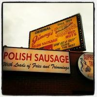 12/8/2012 tarihinde rachel k d.ziyaretçi tarafından Original Jimmy's Red Hots'de çekilen fotoğraf