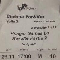 Photo prise au Cinéma For&Ver par Jade H. le11/29/2015