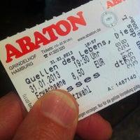 Das Foto wurde bei Abaton von Sebastian S. am 1/31/2013 aufgenommen