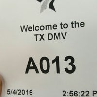 ... Photo taken at Texas Department of Motor Vehicles by Derrick N. on 5/4 ...