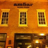 Снимок сделан в Ambar Balkan Cuisine пользователем Milton H. 2/1/2013