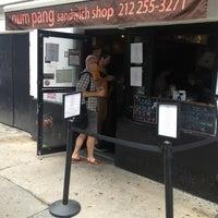 Снимок сделан в Num Pang Sandwich Shop пользователем Sean H. 6/8/2013