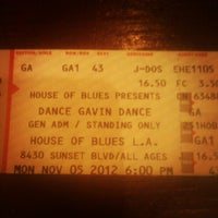 11/5/2012에 Jose P.님이 House of Blues Sunset Strip에서 찍은 사진