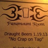 Das Foto wurde bei Paramount Room von AJ D. am 1/20/2013 aufgenommen