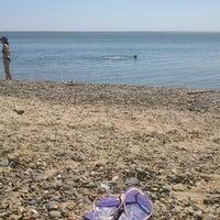 Photo taken at Пляж пансионата Энергетик by Marina K. on 6/23/2013