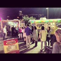 Photo taken at Short Leash Mobile Hot Dog Eatery by Terry C. on 12/6/2012
