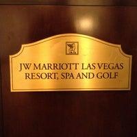 Снимок сделан в JW Marriott Las Vegas Resort & Spa пользователем @24K 12/2/2012