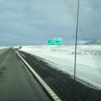 Photo taken at The Death Star sign on I-80 by Becca C. on 1/15/2013