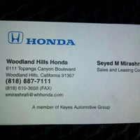 Keyes Woodland Hills >> Keyes Woodland Hills Honda Auto Dealership In Warner Center