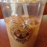 Photo taken at Einstein Bros Bagels by Lisa C. on 4/27/2014