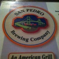 Снимок сделан в San Pedro Brewing Company пользователем Annie M. 1/17/2013