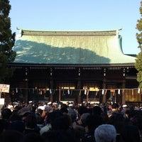 Foto tirada no(a) Honden (Main Shrine) por たぁ~ em 1/2/2013