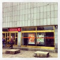 Снимок сделан в Metro =C= Nádraží Holešovice пользователем Daniela J. 5/11/2013
