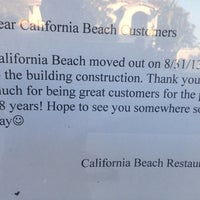 California Beach Sushi Restaurant Now