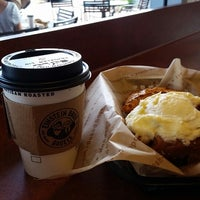 Photo taken at Einstein Bros Bagels by Kris B. on 9/7/2014