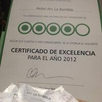 Foto tomada en Hotel Arc La Rambla por Dan el 4/5/2013