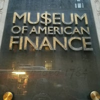 Foto scattata a Museum of American Finance da DrWho131 M. il 1/23/2017