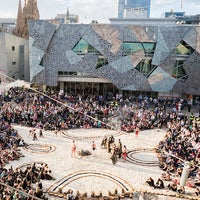 Photo taken at Federation Square by Federation Square on 7/25/2016