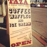 Снимок сделан в Taza. A social coffee house. пользователем sonny m. 10/13/2012