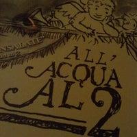 Das Foto wurde bei Acqua Al 2 von Dan S. am 1/12/2013 aufgenommen