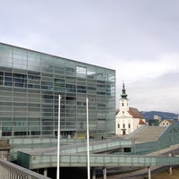Photo taken at Ars Electronica Center by Vala B. on 2/7/2013