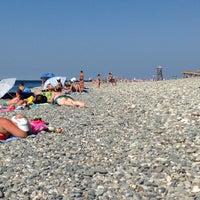 Снимок сделан в Самый южный пляж России пользователем Julia K. 9/2/2014