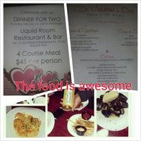Das Foto wurde bei Liquid Room Restaurant & Bar von Doc C. am 2/13/2013 aufgenommen