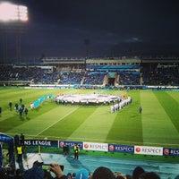 Foto tirada no(a) Стадион «Петровский» por Mikhail G. em 10/1/2013