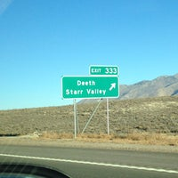 Photo taken at The Death Star sign on I-80 by Bobby R. on 10/22/2013