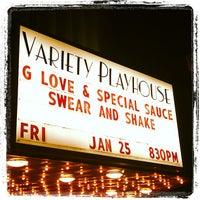Снимок сделан в Variety Playhouse пользователем Bill B. 1/26/2013