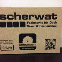 Das Foto wurde bei Scherwat - Fachmarkt für Dach, Wand & Innenausbau von Klaus S. am 4/18/2013 aufgenommen
