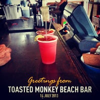 Foto tirada no(a) Toasted Monkey Beach Bar por Brendan M. em 7/14/2013