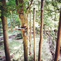 Das Foto wurde bei Waldhochseilgarten Jungfernheide von Sarah Loreen am 7/22/2014 aufgenommen