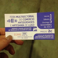Photo prise au Pazo de Feiras e Exposicións de Lugo par Los lugares de Lenny le11/1/2013