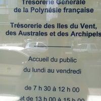 Foto diambil di Tresorerie Generale de Polynesie Française TIVAA (Tresorerie des Iles du Vent, Australes & Archipels oleh Christophe K. pada 6/10/2013