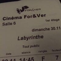 Photo prise au Cinéma For&Ver par Axelle D. le11/30/2014