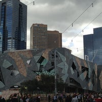 Photo taken at Federation Square by Lyn B. on 4/29/2013