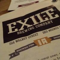 Снимок сделан в Exile Brewing Co. пользователем Lance N. 4/26/2014