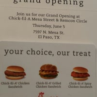Chick Fil A Fast Food Restaurant In El Paso