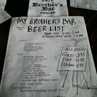 Foto scattata a My Brother's Bar da Adam J. il 11/16/2012