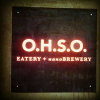 Photo taken at O.H.S.O. Eatery + nanoBrewery by Die K. on 8/24/2012