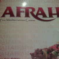 Photo taken at Afrah Mediterranean Restaurant & Pastries by Dr. Maggie A. on 4/7/2012