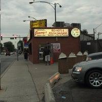 6/24/2012 tarihinde Michael L.ziyaretçi tarafından Original Jimmy's Red Hots'de çekilen fotoğraf