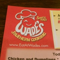 wades restaurant menu