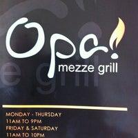 3/8/2012에 Joe L.님이 Opa Mezze Grill에서 찍은 사진