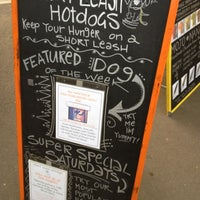 Photo taken at Short Leash Mobile Hot Dog Eatery by Niki N. on 1/12/2012